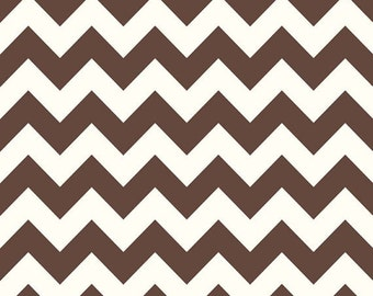 Sale fabric, End of the Year Sale, Fabric by the yard, 6 Dollars/yard, Chevron fabric, Brown Cream Chevron, Riley Blake, Choose your cut