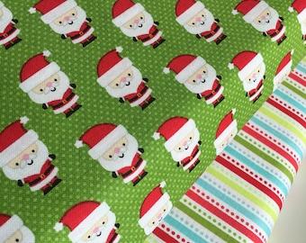 SALE fabric, Christmas fabric, Santa fabric bundle, Holiday fabric, Fabric by the Yard- Fabric Bundle of 2, Choose The Cuts