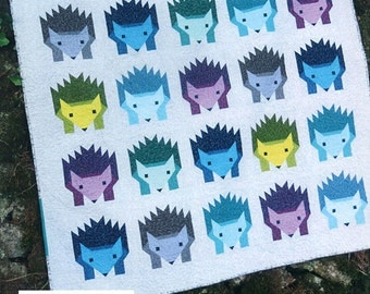 Hazel Hedgehog Quilt Pattern by Elizabeth Hartman, Hedgehog Quilt, Fabric Shoppe Free Shipping Available