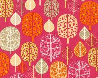 SALE fabric, Tree Fabric, Girl Fabric, Leaf fabric, Acorn Forest fabric bundle, Robert Kaufman, Trees in Sweet, You Choose the Cut