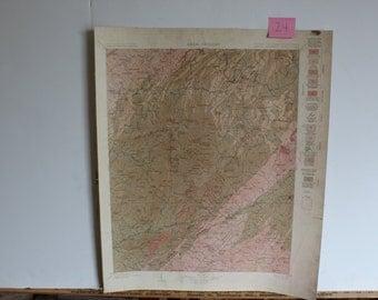 1900s North Carolina Tennesse Mount Mitchell Quadrangle Areal Geology Sheet map