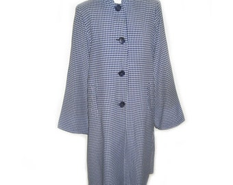 Vintage 1940's Blue & White Asian Style Jacket