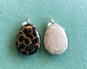 Natural Bee Hive Egg Shell Bamboo Seed Pod Pendant Necklace