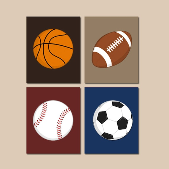 SPORTS Wall Art, CANVAS or Prints BOY Nursery, Sports Theme, Big Boy Bedroom