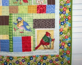 Woodland animal lap quilt