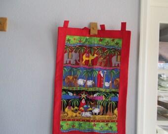 Small Christmas Nativity Wall Hanging