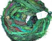 CUSTOM FOR ARTSIVAS i Ribbon, Green Fuzzy ribbon, multicolor ribbon, washed ribbon