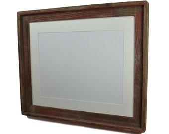 Shabby chic 16x20 wood photo frame black 11x17 mat