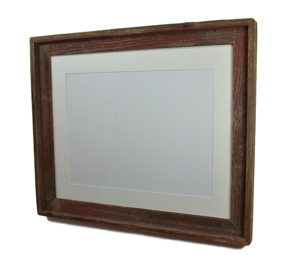 Shabby Chic 16x20 Wood Photo Frame Black 11x17 Mat By