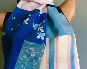 Silk Scarf Vintage Kimono OOAK - Rita
