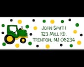 30 Return Address Labels     -   Tractor Design -  Tractor Address Labels - Farm Labels - Tractor Birthday Party