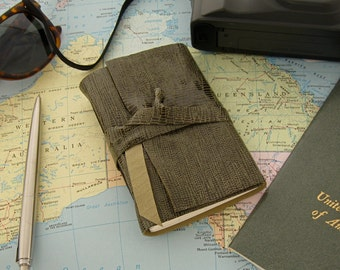 Small Leather Sketchbook Pocket Journal Handmade Leather Book Unique Gift for Adventurers Pocket Sized Leather Journal Olive Green Leather