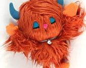Reserved for Arianna. Plush Monster in Orange