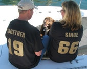 50th Anniversary TOGETHER SINCE  Couples T-Shirts Set of 2 Shirts
