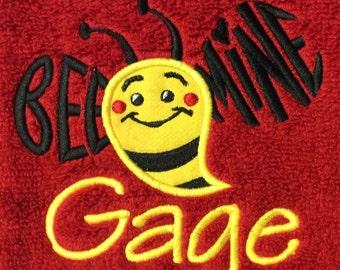 BATH TOWEL Bee Mine Valentine Personalized Towel