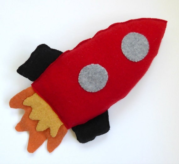 Cashmere Rocket Ship Soft Toy Cashmere Plush Toy Re-Purposed