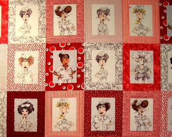 Nifty Nurses panel by Loralie Designs  (#95X)