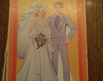Vintage 80's Box of Assorted Paper Dolls Bride & Groom Plus Barbie, Disney, etc.