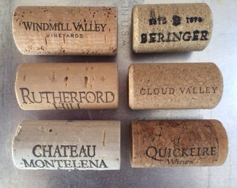 Wine Cork Magnets, Wine Cork Refrigerator Magnets, Hostess Gift, Wine Lovers Gift