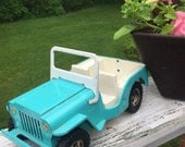 Vintage TONKA Turquoise Jeep - Calling all Beach Lovers!