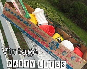 Vintage 60s Tiki Parti-lites in Original Packging