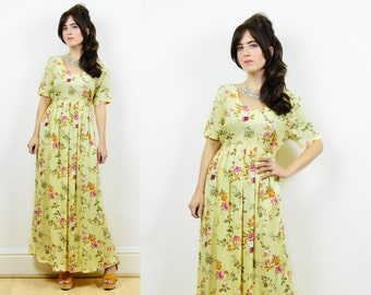 90s floral dress, maternity dress, vintage floral dress, maternity clothing, vintage maternity dress, floral maxi dress, 90s maxi dress