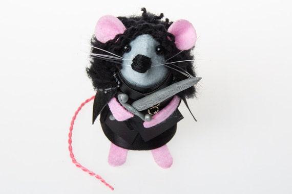 Jon Snow Mouse Game of Thrones inspired ornament artisan gift for women wife girlfriend felt rat mice cute gift for GoT Kit Harington fan