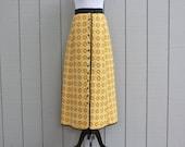 Cotton Maxi Skirt in Mustard