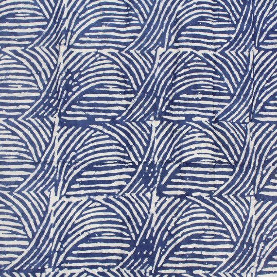 Blue And White Batik By The Yard Abstract African Batik