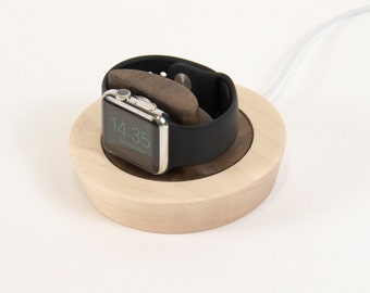 Saucer for Apple Watch - Maple + Walnut