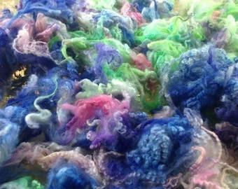 Dyed Locks BFL x Wensleydale Pastel Princess Felting Spinning
