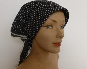 Vintage Polka Dot Kerchief/Head Scarf