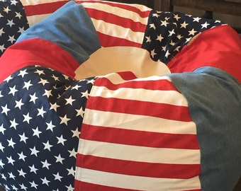 NEW American Stars and Stripes Patriotic Americana Bean Bag chair
