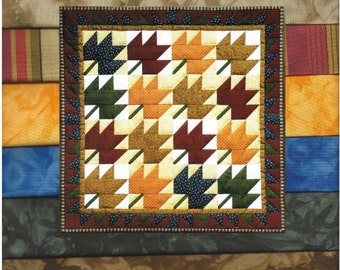 LEAVES Quilt Kit with Hand Dyed Fabric - Spectacular!!