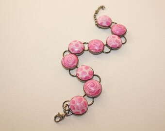 Pink Polymer Bracelet