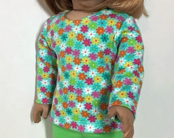 18 inch Doll Clothes Lime Green Jeggings Outfit