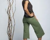 Size M // Culottes // Stretch Hemp & Organic Cotton // Gauchos // Capri // Eco Fashion // Medium // US 8-10+