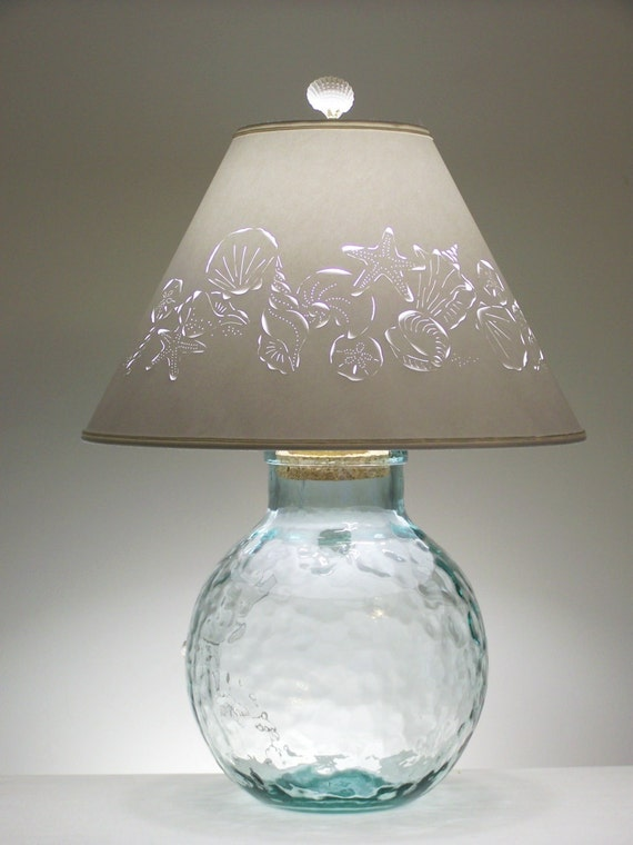 lamp fillable lamp seashell lamp fillable recycled glass. Black Bedroom Furniture Sets. Home Design Ideas
