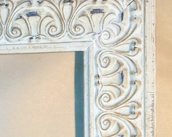 White Washed Shabby Chic French Country Picture Frame 5 x 7""