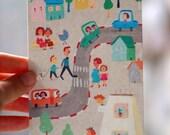 big street  postcard