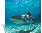 Underwater Shark Shower Curtain