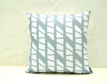 Ice blue scandinavian and Mediterranean style linen pillow cover