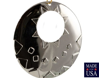 1 Hole Cutout Silver Plated Southwestern Drop / Pendant 48mm (2) mtl487C