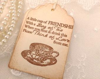 Friendship Tags Tea Friend Tea Cup Teacup Tags