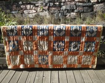 Cutter Quilt | Old Quilt | Vintage Quilt | Antique Quilt