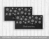 Snowflake Buffet Cards / ...