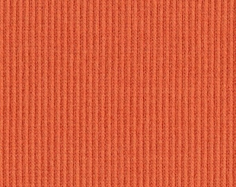 TIGERLILY ORANGE 2x1 RIBBING, Cotton Lycra blend, Fat Eighth, 9 x 20 inches