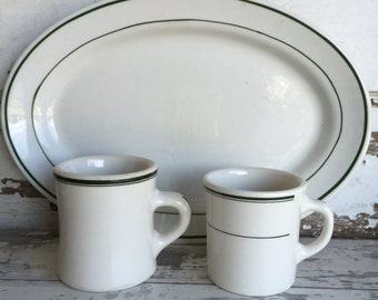 Vintage Restaurant Ware Choice - Platter or Mug