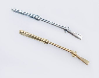 Musket Tie Bar, Brass or Silver
