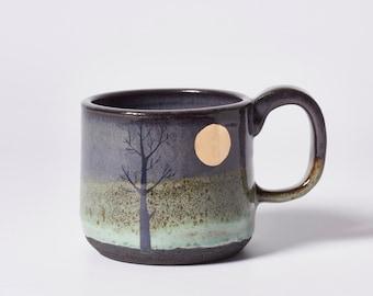 Gold Moon & Tree Mug